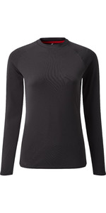 2021 Gill Womens Long Sleeve UV Tec Tee Charcoal UV011W