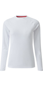 2019 Gill Womens Long Sleeve UV Tec Tee White UV011W