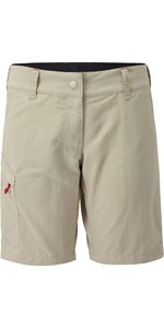2021 Gill Womens UV Tec Shorts Khaki UV012W