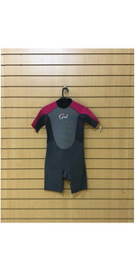 GUL RESPONSE TECH-NECK JUNIOR SHORTY Wetsuit GRAPHITE / PINK SECOND