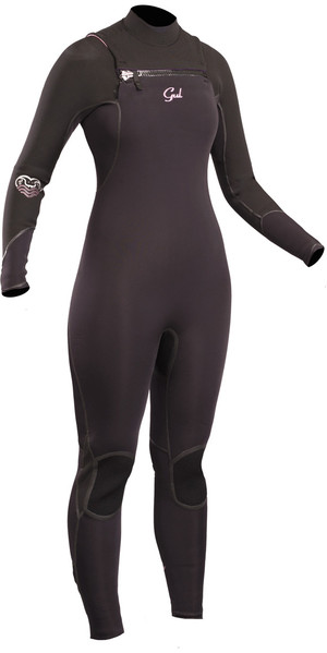 2019 GUL Womens Viper 5/4mm Chest Zip GBS Wetsuit BLACK VR1223-B5