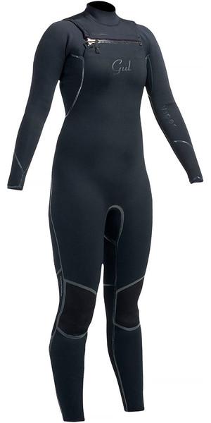 Gul Ladies Viper 3 / 2mm Chest Zip Wetsuit Negro VR1229 - 2 ° N
