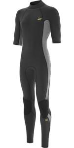 2021 Billabong Mannen Absolute 2mm Back Zip Gbs Korte Mouw Wetsuit W42m62 - Houtskool