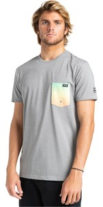 2021 Billabong Herren Team Pocket T-Shirt W4eq06 - Grau Meliert