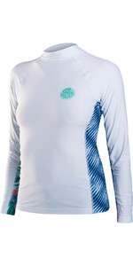 Rip Curl Womens All Over Long Sleeve Rash Vest White WLE8KW