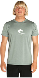 2019 Rip Curl Mens Icon Short Sleeve UV T-Shirt WLYXLM - Aqua