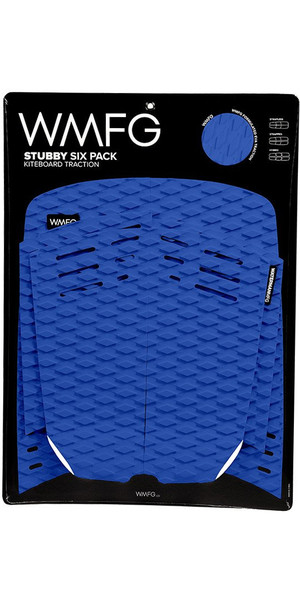 2018 WMFG Stubby Six Pack Kiteboard Traction Pad BLU / BIANCO 170005