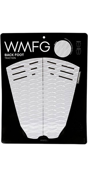 2018 WMFG Classic Back Foot Traction Pad White / Black 170015