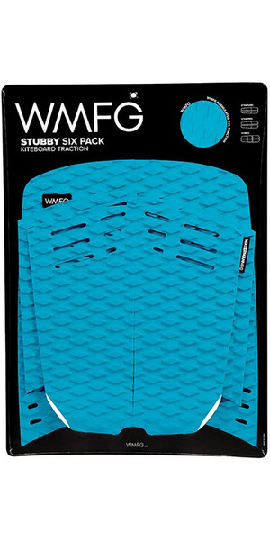 2018 WMFG Stubby Six Pack Pad de traction Kiteboard Teal 170005