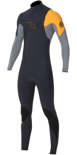Rip Curl E-Bomb 4/3mm GBS Chest Zip Wetsuit SLATE WSM5BE
