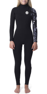 2019 Rip Curl Womens G Bomb 5/3mm Zip Free Wetsuit Black / White WSM8JG