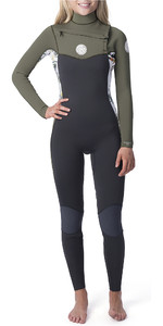2019 Rip Curl Dames Dawn Patrol 5/3mm Wetsuit Met Chest Zip Wit WSM9AS