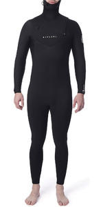 2019 Rip Curl Mens Dawn Patrol 5/4mm Hooded Chest Zip Wetsuit Black WSM9BM