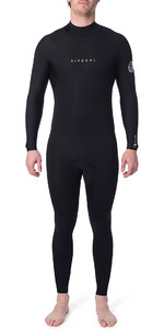 2019 Rip Curl Heren Dawn Patrol Warmte 4/3mm Wetsuit Met Back Zip Zwart WSM9EM