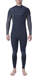 2019 Rip Curl Heren Dawn Patrol Warmte 5/3mm Wetsuit Met Chest Zip Slate WSM9gm