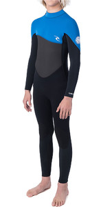 2019 Rip Curl Júnior Omega 4/3mm Gbs Back Zip Wetsuit Azul Wsm9rb