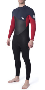 2019 Rip Curl Júnior Omega 4/3mm Gbs Back Zip Wetsuit Ardósia Wsm9rb