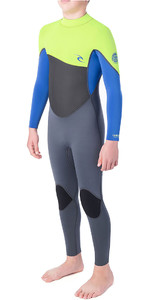 2019 Rip Curl Júnior Omega 4/3mm Gbs Back Zip Wetsuit Cal Wsm9rb