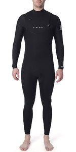 2019 Rip Curl Heren Dawn Patrol Performance 5/3mm Wetsuit Met Chest Zip Zwart Wsm9xm