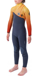 2019 Rip Curl Junior Flashbomb 3/2mm Combinaison Sans Fermeture à Glissière Orange Wsm9vu