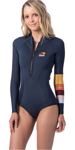 2019 Rip Curl Womens G-Bomb 1mm Long Sleeve High Cut Shorty Wetsuit Slate WSP9RW