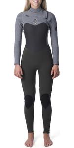 2019 Rip Curl Mulheres Flashbomb 4/3mm Chest Zip Wetsuit Cáqui Wst9fg
