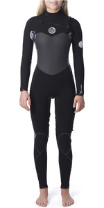 2019 Rip Curl Womens Flashbomb 5/3mm Chest Zip Wetsuit Black / White WST9GS