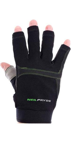 2018 Neil Pryde Junior Regatta medio dedo guantes de vela negro WUKSAGGH