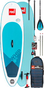 2019 Red Paddle Co Whip 8'10 Inflável Stand Up Paddle Board + Saco, Bomba, Pá E Trela