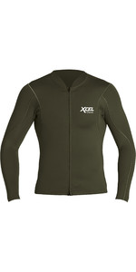 2020 Xcel Mens Axis 1mm Long Sleeve Front Zip Neoprene Top MN16NAX9 - Dark Forest