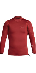 2020 Xcel Men's Xcel 2/1mm Top En Néoprène à Manches Longues MN216AX0 - Chili Pepper