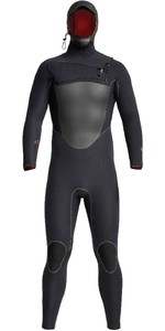 2020 Xcel Heren Drylock 6/5mm Wetsuit Met Capuchon En Chest Zip MC65DHNO - Zwart