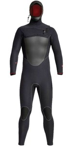 2020 Xcel Mannen Drylock X 5/4mm Hooded Chest Zip Wetsuit Mc54hpno - Zwart