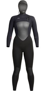 2020 Xcel Womens Infiniti X2 6/5mm Hooded Chest Zip Wetsuit WQ65ZHN0 - Black