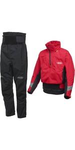 2020 Yak Apolo Kayak Touring Cag Y Pantalón Chinook Combinado - Rojo / Negro