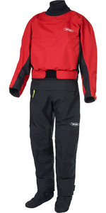 2020 Yak Herenhorizon Kayak Drysuit + Con Zip 6580 - Rood