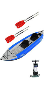 2019 Kayak Gonfiabile Ad Alta Pressione Z-pro Flash 2 Man, Paddle E Pump Blue Fl200