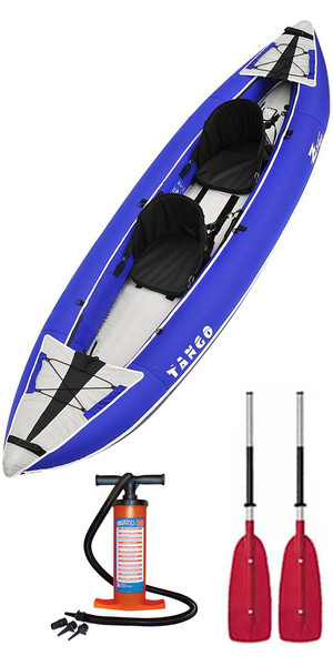 2018 Z-Pro Tango 1 or 2 Man Inflatable Kayak TA200 BLUE + 2 FREE PADDLES + PUMP