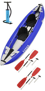 2020 Z-Pro Tango 200 1-2 Man Inflatable Kayak TA200 BLUE + 2 FREE PADDLES + PUMP