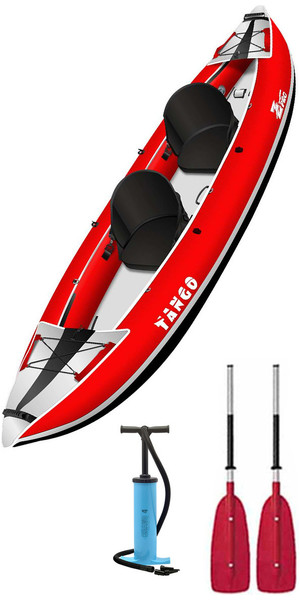 2018 Z-Pro Tango 1 or 2 Man Inflatable Kayak TA200 RED + 2 FREE PADDLES + PUMP