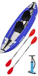 2019 Z-Pro Tango 200 1-2 Man Inflatable Kayak TA200 BLUE + 2 FREE PADDLES + PUMP