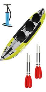 2019 Z-pro Tango 3 Kayak Gonfiabile Ta300 Verde E 2 Pagaie E Pompa Staffa