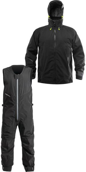2019 Zhik AroShell Offshore Coastal Jacket JKT0320 & Salopettes SAL301 Combi Set Black