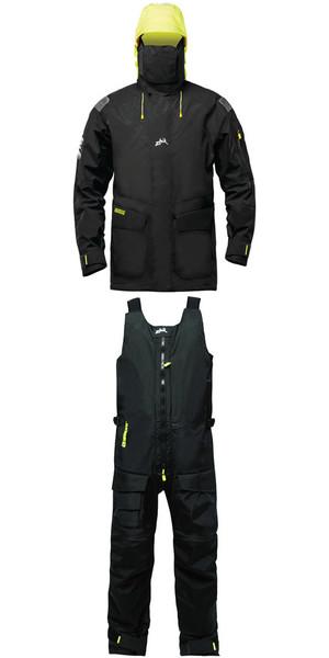 2019 Zhik Isotak 2 Jacket JK851 y Salopettes SAL851 Combi Set Black