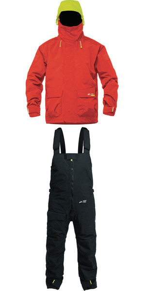 2019 Zhik Kiama X Jacket J401 & Trouser TR101 Conjunto combinado rojo / negro