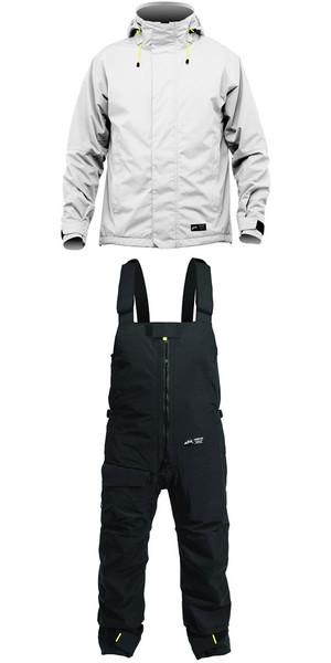 2019 Zhik Kiama Jacket J101 & Trouser TR101 Conjunto combinado Ash / Black