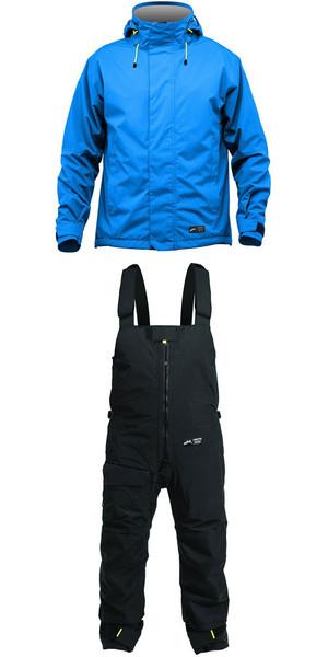 2019 Zhik Kiama Jacket J101 y pantalón TR101 Combi Set Cyan / Black