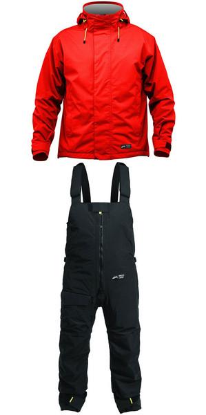 2019 Zhik Kiama Jacket J101 & Trouser TR101 Conjunto combinado rojo / negro