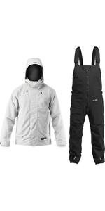 Zhik Mens Kiama Jacket & Trouser Combi Set - Ash / Black