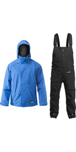 Zhik Mens Kiama Jacket & Trouser Combi Set - Cyan / Black